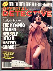 Official Detective Magazine November 1983- Noelle Bouraudhui- Mary Sorgenti VG