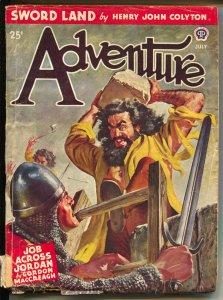 Adventure 7/1946-Popular-Peter Stevens cover-Kjelgaard-Eggenhofer-VG