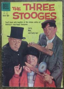 FOUR COLOR COMICS (Dell,10/1959) #1043 FAIR. THREE STOOGES Photo Cover,