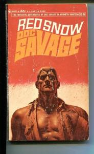 DOC SAVAGE-RED SNOW-#38-ROBESON-G/VG-JAMES BAMA COVER-1ST EDITION G/VG