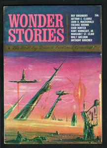 WONDER STORIES 1965-JOHN D MACDONALD-ARTHUR C CLARKE VG/FN