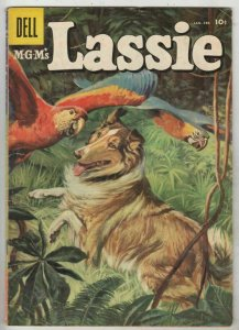 Lassie # 32 Strict VG+ Affordable-Grade Cover Painted with colorful parrots