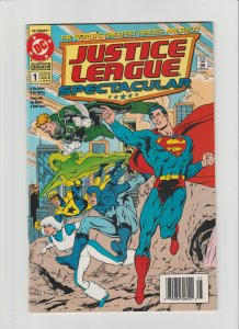 Justice League Spectacular #1 (1992) High Grade NM 9.2/9.4 Newsstand Variant!!