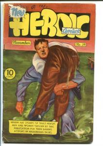 HEROIC COMICS #39 1946-INGLES AND TOTH ART!-GREAT ISSUE VG+