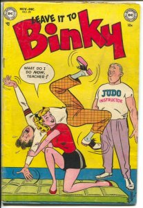 Leave It To Binky #29 1952-DC-Judo cover-Parade Of Pleasure-teen humor-VG+