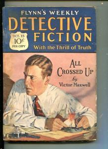 FLYNN'S WEEKLY DETECTIVE FICTION-OCT 15 1927-MYSTERY-MAXWELL-good/vg