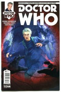 DOCTOR WHO #3 A, NM, 12th, Tardis, 2016, Titan, 1st, more DW in store, Sci-fi