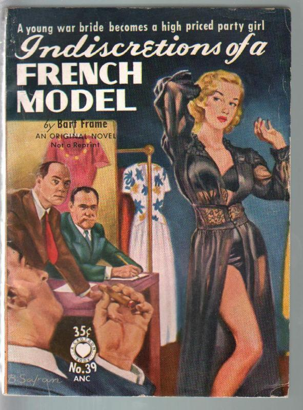 Croydon Books #39 1953-Indiscretions Of A french Model-Bart Frame-lingerie cover