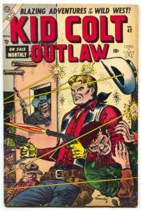 Kid Colt Outlaw #42 1954- Black Rider- Atlas Western FN