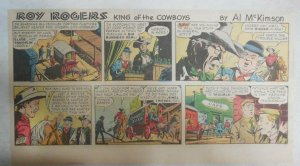 Roy Rogers Sunday Page by Al McKimson from 12/8/1957 Size 7.5 x 15 inches