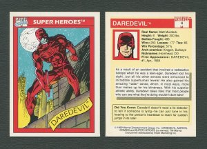 1990 Marvel Comics Card  #4  (Daredevil)  NM+