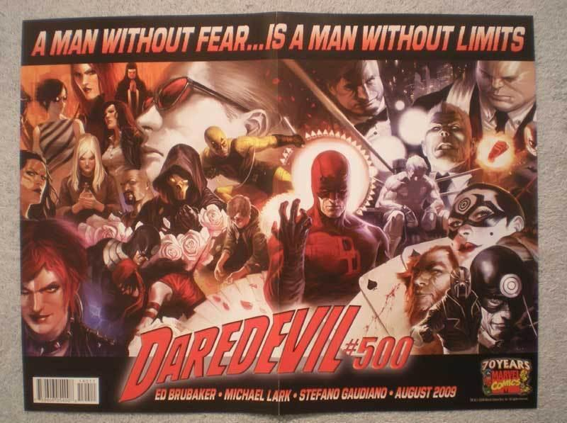 DAREDEVIL #500 Promo Poster, 10x13, 2009, Unused, more in our store