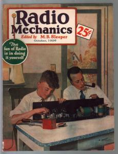 Radio Mechanics #1 10/1926-1st issue-Howard Brown-early radio info-VF