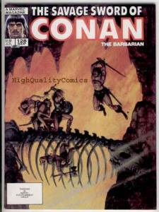 SAVAGE SWORD of CONAN #128, VF/NM,Kull the Conqueror, Curse of the Ageless Ones