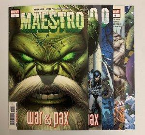 Maestro War & Pax #1-5 Set (Marvel 2021) 1 2 3 4 5 Peter David (9.2+)