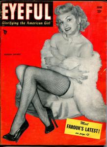 Eyeful 6/1953-cheesecake-Marian Savage-Betty Bettie Page-lingerie-stocking-VG