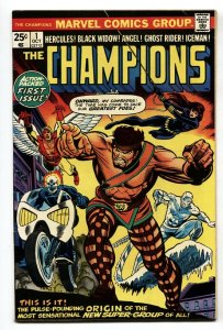 CHAMPIONS #1 First issue Ghost Rider -Marvel Comic Book 1975 VF-