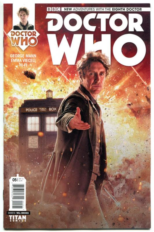DOCTOR WHO #5 B, NM, 8th, Tardis, 2016, Titan, 1st, more DW in store, Sci-fi
