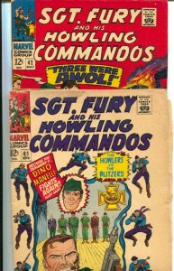 Sgt. Fury and His Howling Commandos Lot #8-Marvel-issues 41,42,45,46,47,49-St...