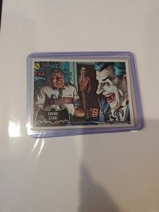 1966 Batman Card #10 - Black Symbol - Crime Czar JOKER