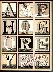 Amphigorey 1978-Edward Gorey-3rd printing-unusual carotoons-comic art-VG