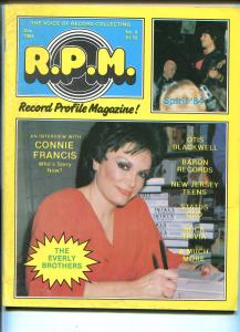 Record Profile Magazine #8 1984-Connie Francis-Otis Blackwell-Baron Records-VG