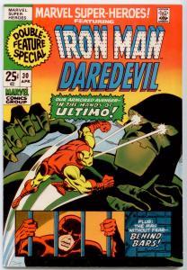 Marvel Super-Heroes 30 Nice! reprint Daredevil 15, Tales of Suspense 78 Iron Man