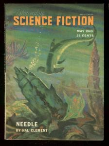 ASTOUNDING SCIENCE-FICTION MAY 1949-L RON HUBBARD-SHARK FN/VF