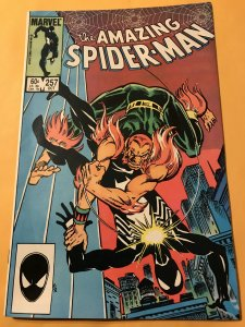 THE AMAZING SPIDER-MAN #257 : Marvel 10/87 Fn/VF; early Black Costume, PUMA