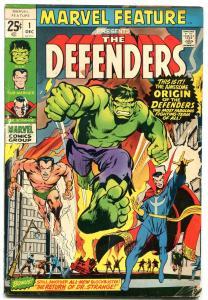 Marvel Feature #1 1971- 1st DEFENDERS- Hulk-Dr Strange- Sub-Mariner G/VG