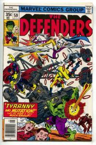 DEFENDERS #59, VF/NM, Hulk, HellCat, Valkyrie, Bronze, 1972 1978, Marvel