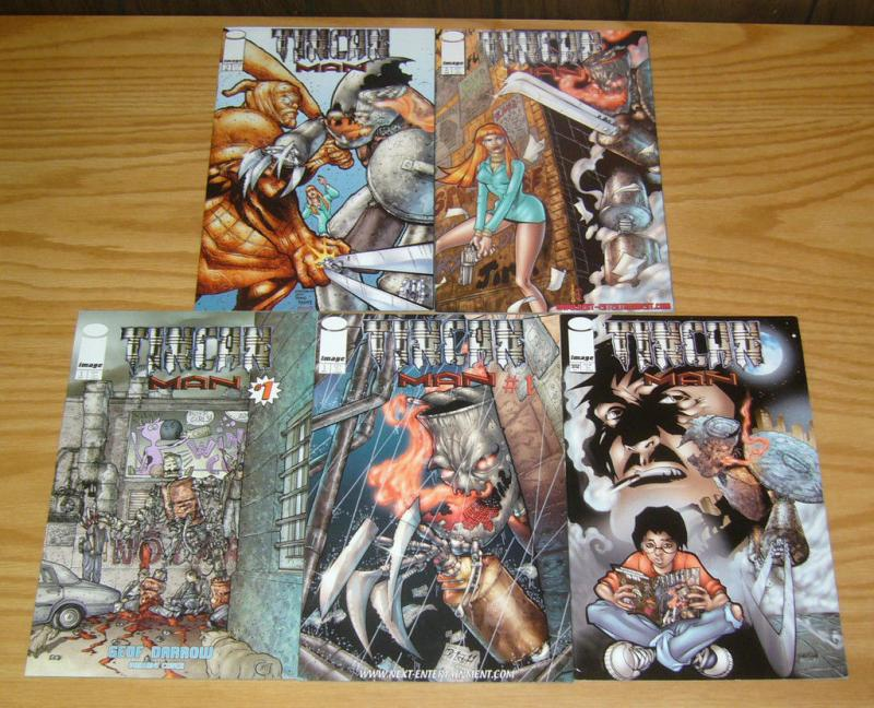 Tincan Man #1-3 VF/NM complete series + geof darrow variant + preview edition 2