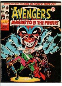 Avengers #65 - vs Magneto - Marvel UK - Magazine Size - 7p - 1974 - FN/VF