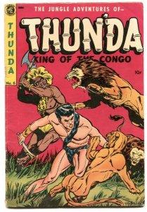 Thunda #6 1953- Golden Age jungle comic-Final issue VG