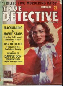 TRUE DETECTIVE-FEB/1939-BLACKMAIL-U.S.SECRET SERVICE-CAREER CRIMINAL-DAPPE P/FR