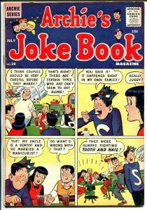 Archie's Joke Book #29 1957-soda shop-ice cream-Betty-Veronica-4 panel cover-VG+