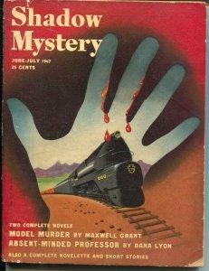 Shadow Mystery 6/1947-Street & Smith-Model Murder-Edd Cartier-Maxwell Grant-VG