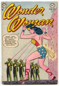WONDER WOMAN  #58 comic book 1953-DC-Firing Squad cover- VG