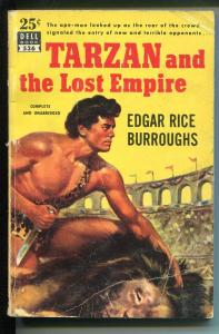Tarzan and The Lost Empire #536 1950's-Dell-Edgar Rice Burroughs-Map Back-VG