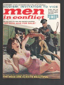 Men in Conflict #3 12/1961-Brutal Nazi terror cover-Vice-exploitation-nudism-...