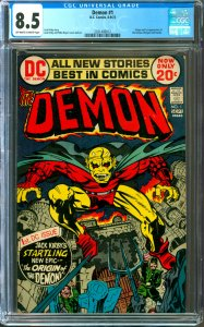 Demon #1 CGC Graded 8.5 1st appearance of the Demon and Randu
