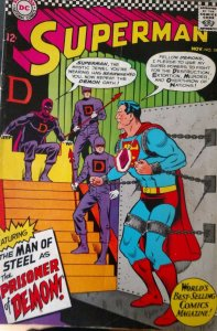 Superman #191 (DC,1966) Condition FN