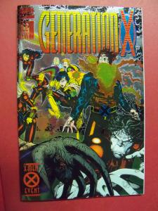 GENERATION X  #1 WRAP-AROUND FOIL COVER (9.0 to 9.2 or better)  MARVEL COMICS