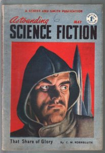 Astounding Science Fiction British Edition 5/1952-sci-fi pulp fiction-VG