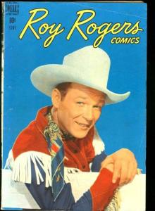 ROY ROGERS COMICS #6-DELL WESTERN-TRIGGER FN