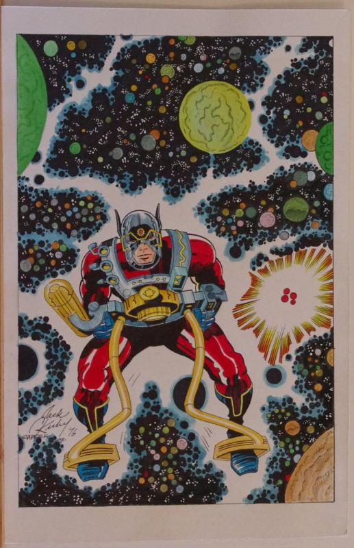 ANGEL GABRIELE original art, Jack Kirby New Gods Recreation,Orion, 2010, 11x17