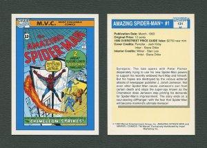 1990 Marvel Comics Card  #131 (Amazing Spiderman #1 Cover) / NM-MT