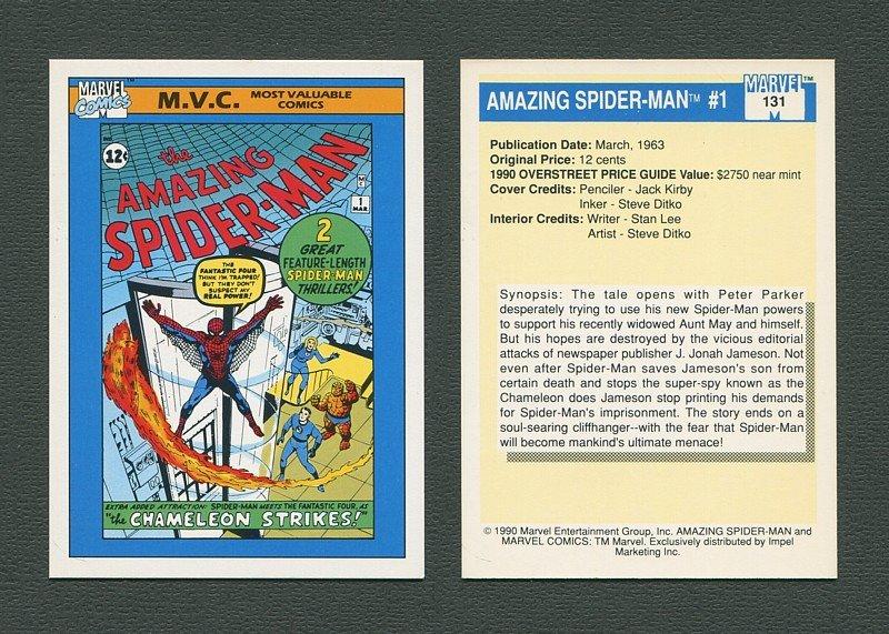 1990 Marvel Comics Card  #131 (Amazing Spiderman #1 Cover) / MINT