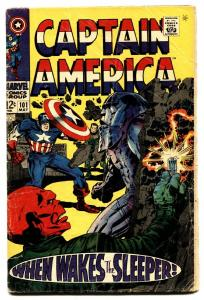 CAPTAIN AMERICA #101 comic book 1968-RED SKULL COVER-SLEEPER-KIRBY VG