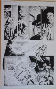 THOMAS YEATES original art, DRACULA vs ZORRO #1, Pg 9, 13x 21, Tom, Signed